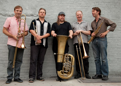 Chris Jonas and TILT Brass at NYC's STONE, August 2010